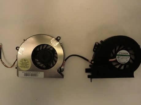 Laptop internal fan front